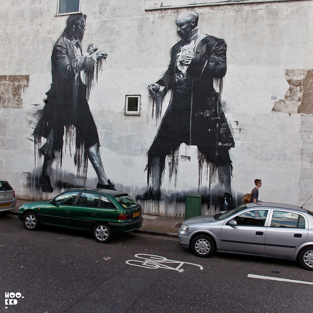 Dulwich Street Art mural by Irish artist Conor Harrington