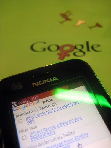 Checking my Google Mail at Google