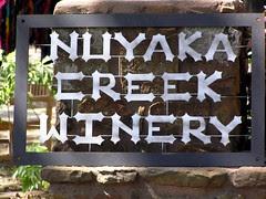 Nuyaka Creek Winery Sign by FreeWine
