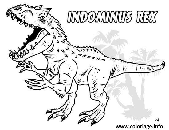 Coloriage Indominus Rex Jurassic World Jecoloriecom
