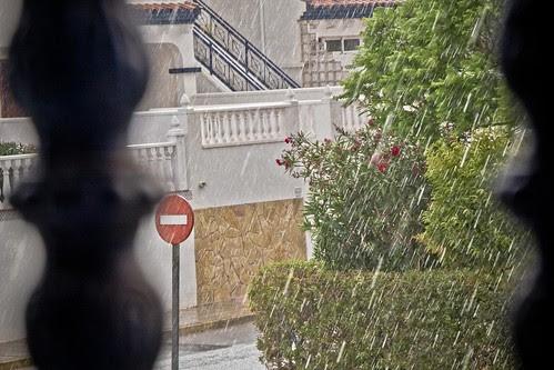 Lluvia en Alicante