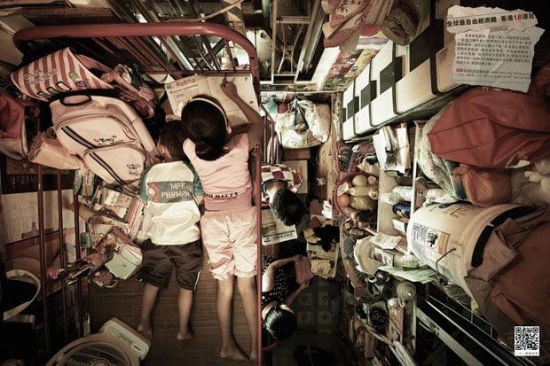 Cramped Apartments in Hong Kong Shot From Directly Above hongkongabove 2