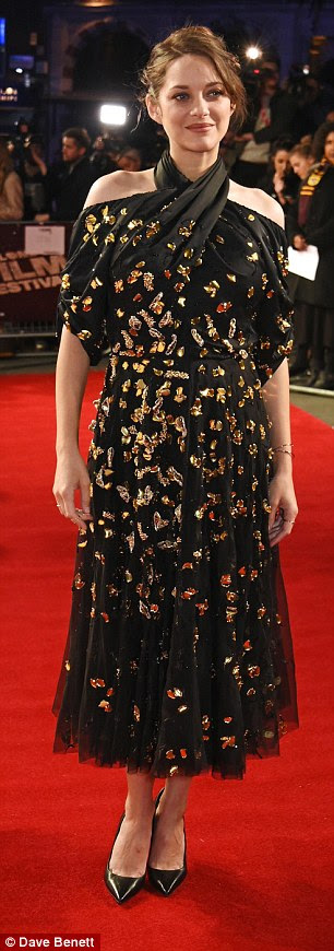 Bumping along nicely: Pregnant Marion Cotillard dazzled at the BFI Film Festival screening ofIt's Only the End of the World in London on Friday