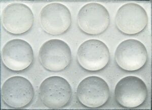 72 3/8 Round Rubber Bumpers Clear Surface Protector Pad ...