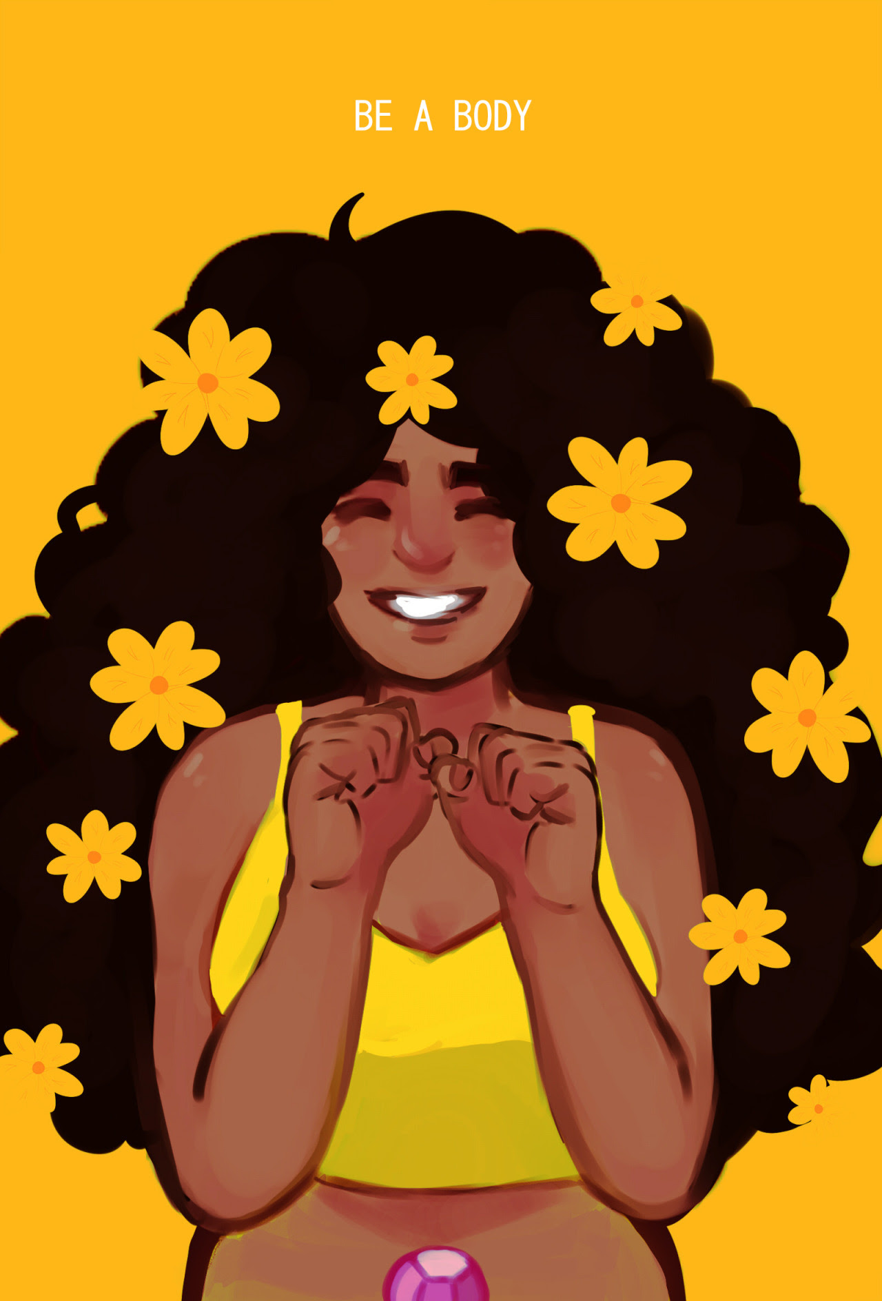 drops a happy stevonnie
