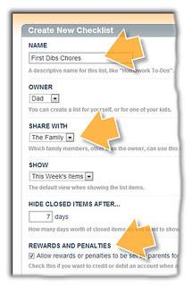 Fill in Checklist Settings