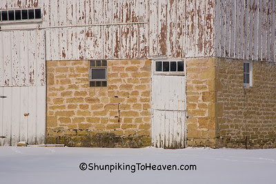 Barn Foundation at Airy Knoll Farm, Sauk County, Wisconsin