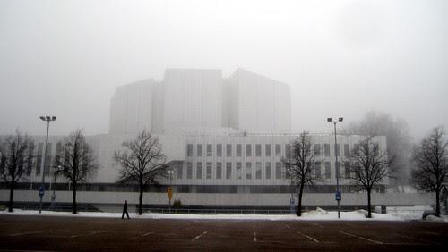 024 Finlandia House in fog