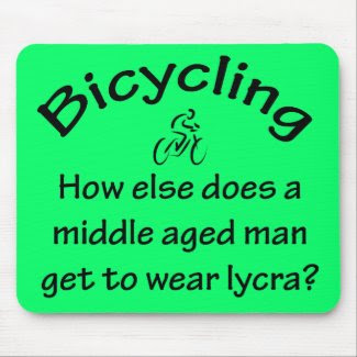 Bicycling mousepad