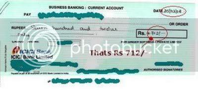 Rupeemail cheque