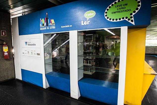 """Biblioteca do programa """"Embarque na Leitura"""" fechada na estação Santa Cecília por falta de patrocínio"""