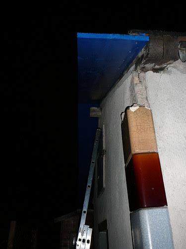 Dachkante mit Wetterschutz