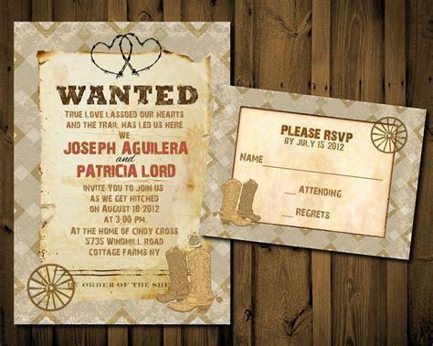Western Wedding Invitation Templates