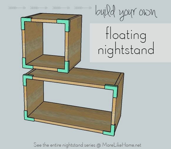 More Like Home Nightstands Day 3 Floating Boxes