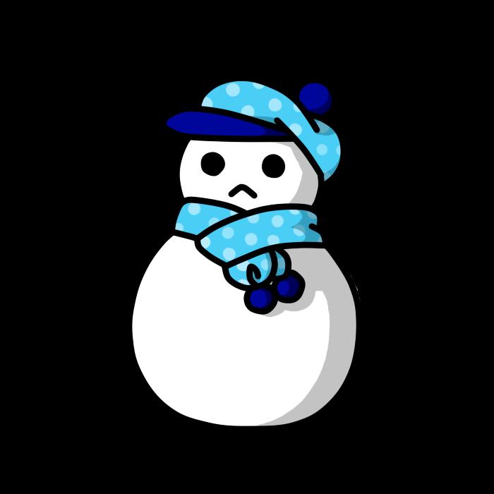 雪だるま4イラスト季節系 Inplayingインプレイング