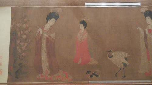 DSCN6228 _ Court Ladies Adorning Their Hair with Flowers (detail 3), Fang ZHOU, 46x180cm, Liaoning Museum, Shenyang, China