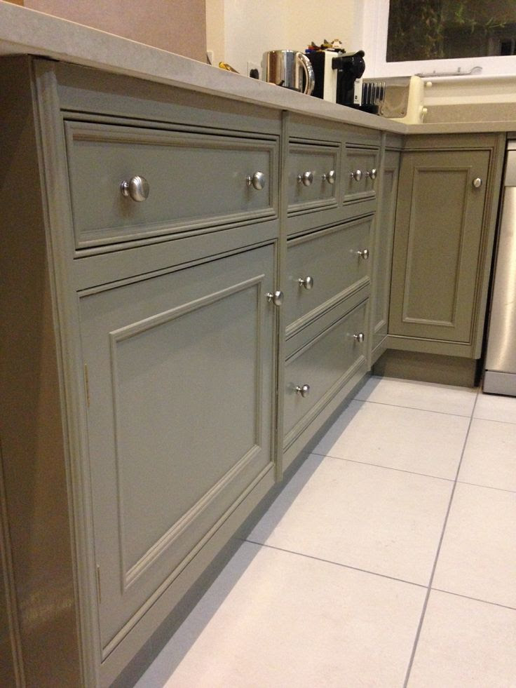 Farrow and Ball Mouse's Back on painted kitchen units