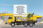 Heavy Equipment Mobile Crane Yard Art Woodworking Pattern - fee plans from WoodworkersWorkshop® Online Store - heavy equipment,mobile,cranes,yard art,painting wood crafts,scrollsawing patterns,drawings,plywood,plywoodworking plans,woodworkers projects,workshop blueprints
