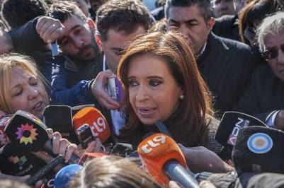 Cristina, en su visita de principios de julio a Tribunales.
