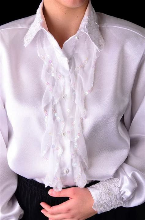 ann  eve collection western wedding blouse sequined