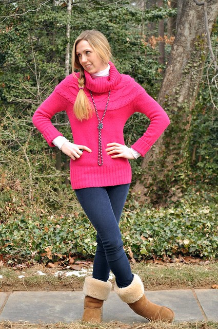 cold day, hot pink