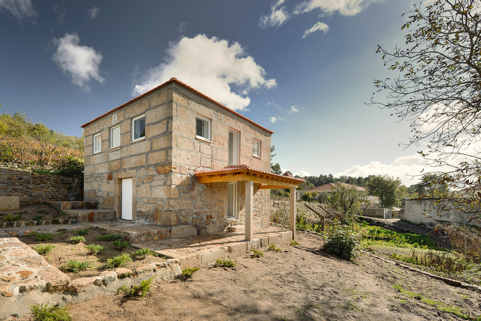 modern design stone house modern design