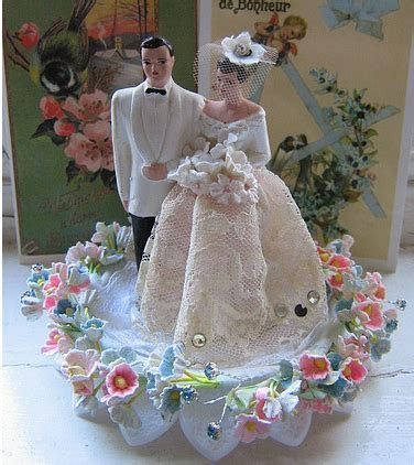 wedding cake toppers: Vintage Wedding Cake Toppers