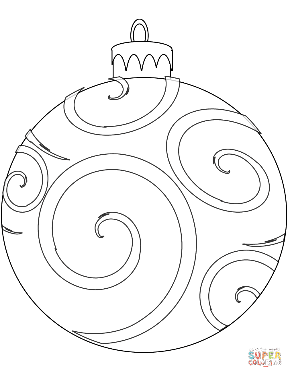 Holiday Ornament coloring page | Free Printable Coloring Pages
