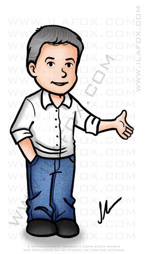 caricatura fofinha, caricatura simples, caricatura profissional, by ila fox