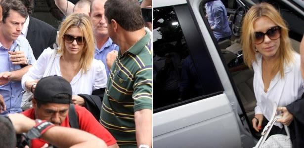 Carolina Dieckmann presta depoimento e entrega seu computador para perícia na Delegacia de Repressão aos Crimes de Informática, no Rio de Janeiro. O caso foi registrado nas áreas cível e criminal (7/5/12)