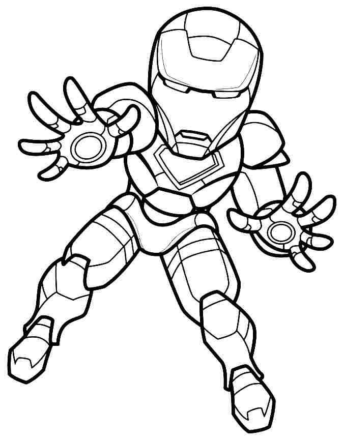 cute iron man coloring pages - Clip Art Library