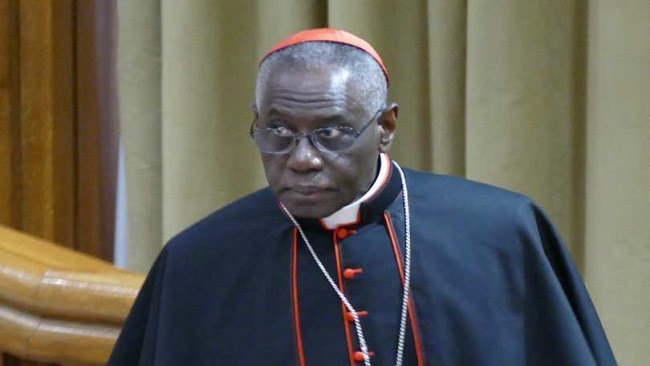 Image result for cardinal sarah pope francis