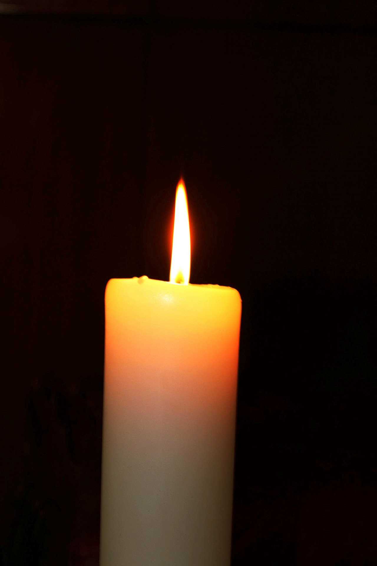 Yellow Candle Free Stock Photo - Public Domain Pictures
