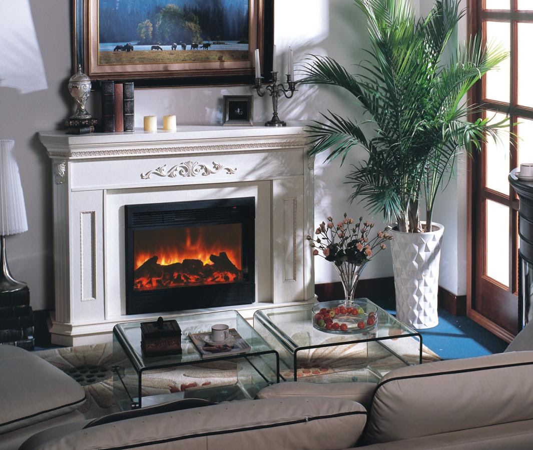 electric fireplace for small living room ideas pictures 30 - Small