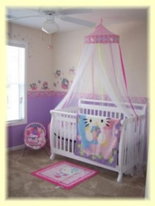 How To Decorate Hello Kitty Baby Nursery Bedroom - Hello Kitty ...