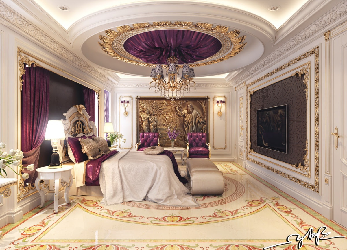 royal bedroom  Interior Design Ideas