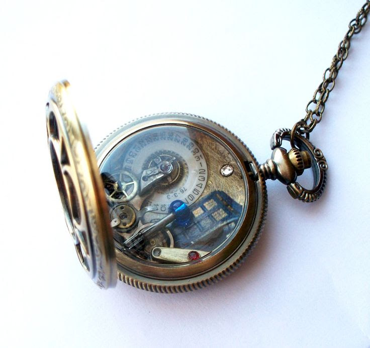 doctor who pocket watch necklace  GUYS I FREAKING NEED THIS. You know what I'm just going to make a doctor who board now.
