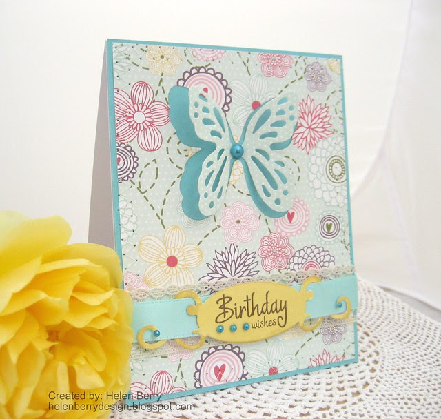 Butterfly Birthday Wishes Card