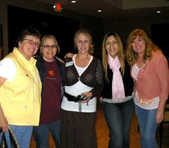 Girls at dinner Diane, Brandi,Pam, Me and Julie!