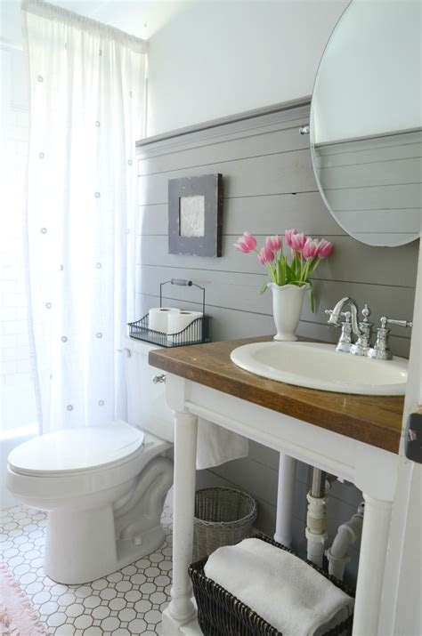 farmhouse bathroom refresh adoption update beneath