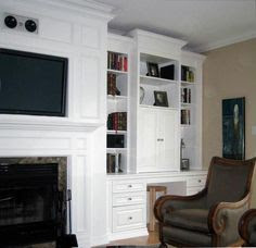 A dramatic custom TV wall unit for a high ceiling living ...   My Des…