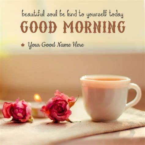 Good Morning ? Write name on image