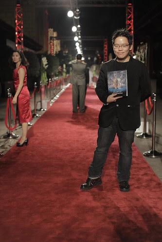 Standing at the red carpet of Dubai Film Fest