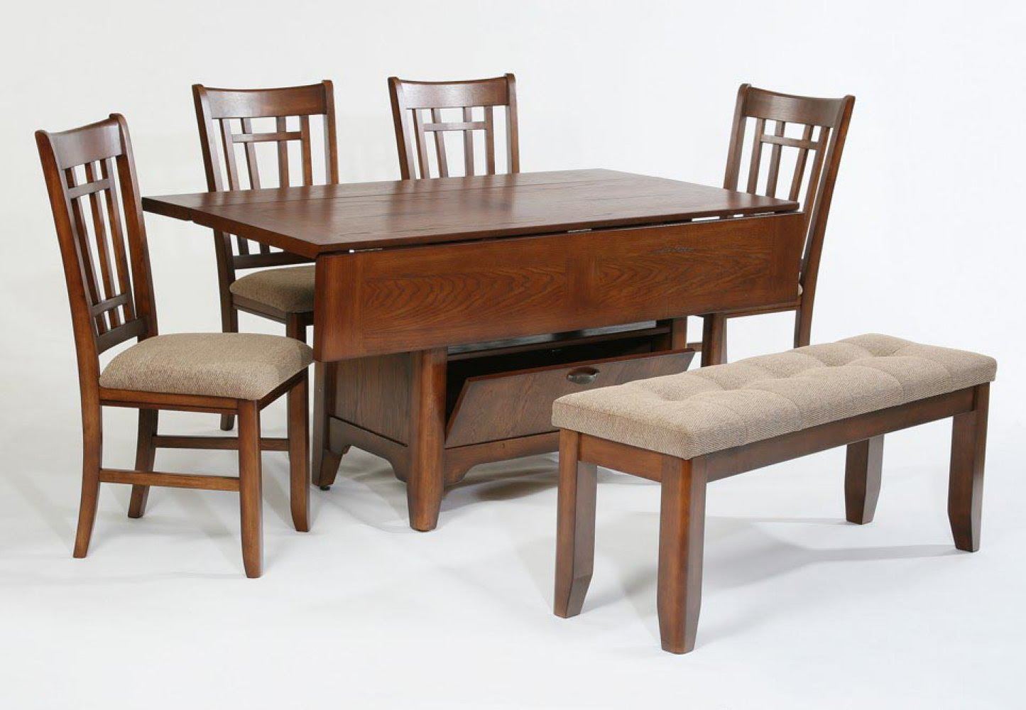 Compact Dining Space Arrangement with Drop Leaf Dining Table for Small Spaces  HomesFeed