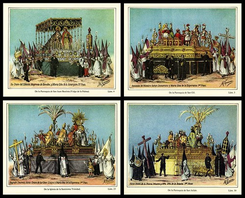 Procession of 'Pasos', Seville Holy Week (1887)