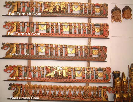 Bali Carvings Traditional Balinese Wooden Wall Panel Decoration