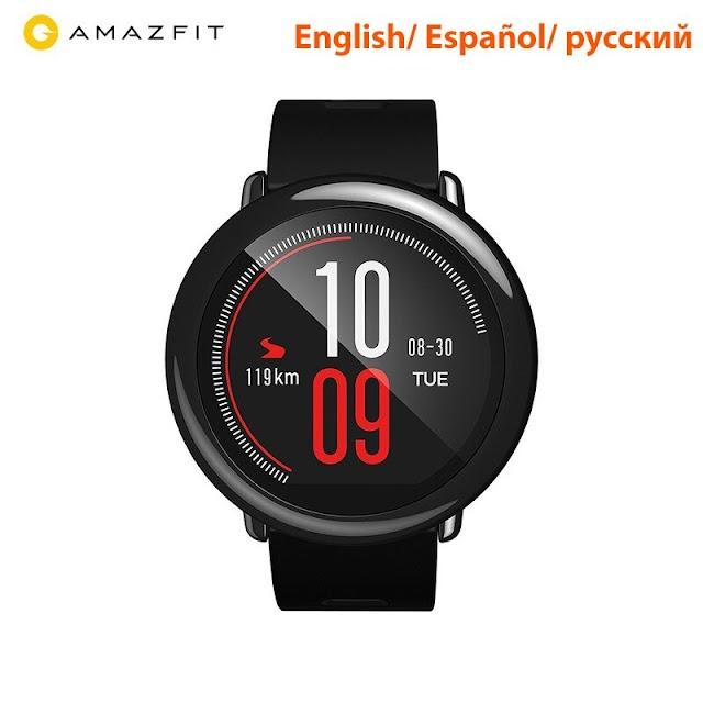 Goede Kopen [Engels Versie] Huami Amazfit Tempo Smartwatch Smart Horloge Bluetooth GPS Informatie Push Hartslag Intelligente Monitor Goedkoop