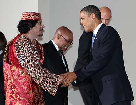Obama Gheddafi