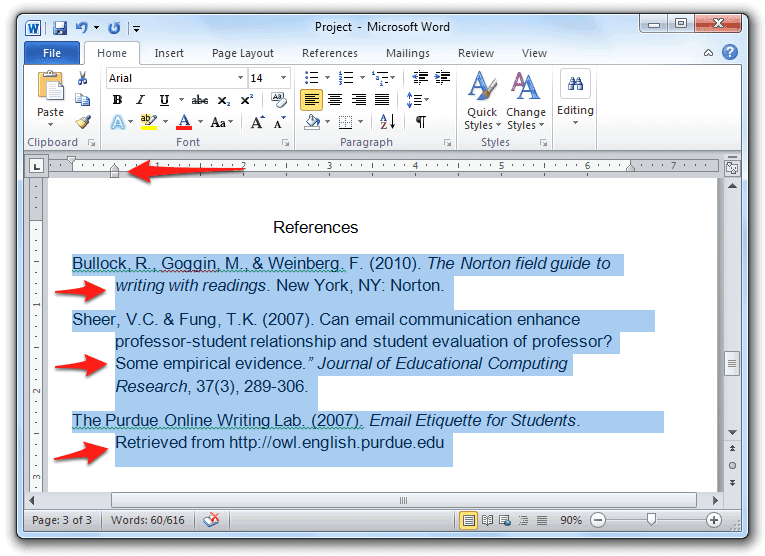 """How to Add """"Hanging Indents"""" to a Word Document in Windows - Simple Help"""