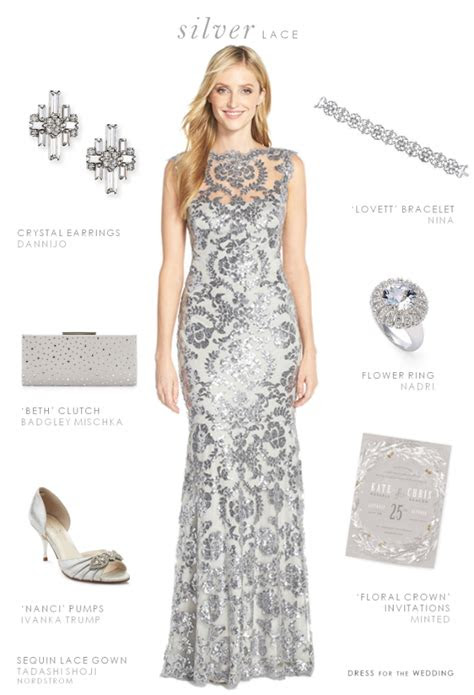 silver lace gown silver gray lace dress   wedding